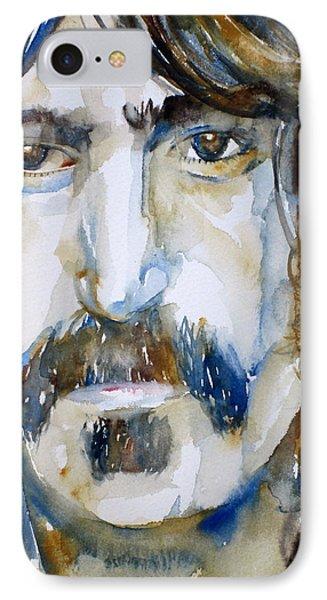 Frank Zappa Watercolor Portrait.2 Phone Case by Fabrizio Cassetta