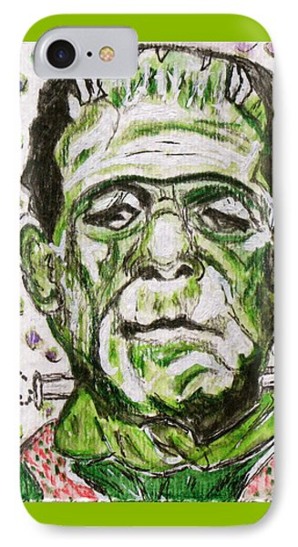 Frankenstein Phone Case by Kathy Marrs Chandler