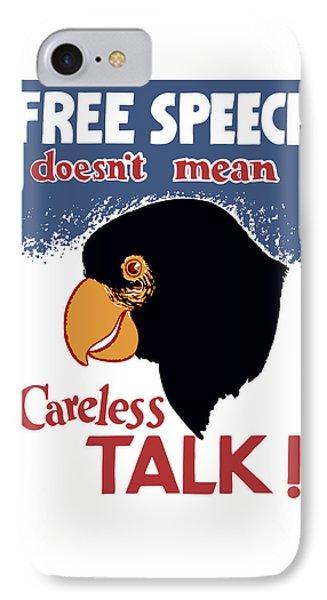 Free Speech Doesn't Mean Careless Talk Phone Case by War Is Hell Store