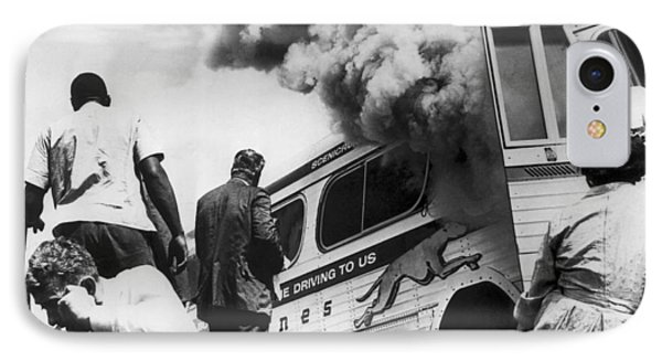 Freedom Riders Bus Burned IPhone Case by Underwood Archives