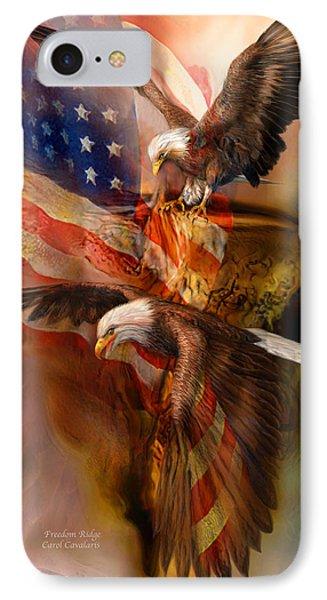 Freedom Ridge Phone Case by Carol Cavalaris