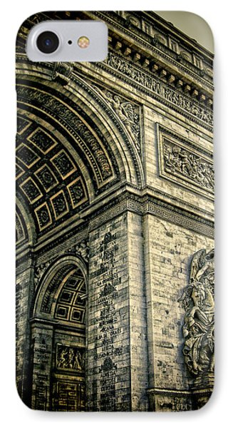 French - Arc De Triomphe And Eiffel Tower Phone Case by Lee Dos Santos