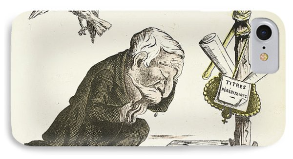 French Caricature - Peine De Badinguet IPhone Case by British Library