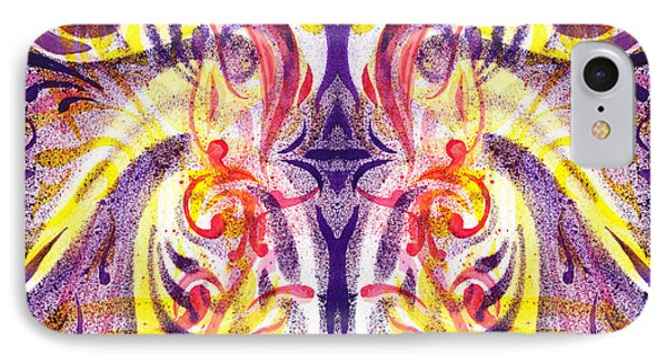 French Curve Abstract Movement V Magic Butterfly  IPhone Case by Irina Sztukowski