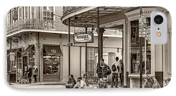 French Quarter - Hangin' Out Sepia Phone Case by Steve Harrington