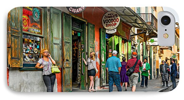 French Quarter - People Watching  Oil IPhone Case by Steve Harrington