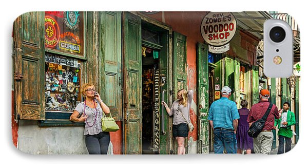 French Quarter - People Watching IPhone Case by Steve Harrington