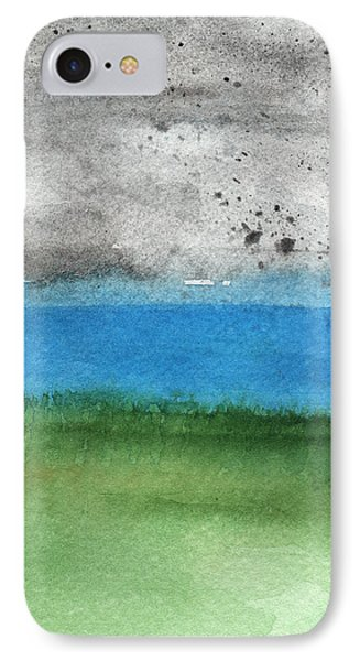 Fresh Air- Landscape Painting IPhone Case by Linda Woods