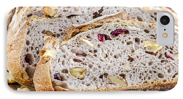 Fresh Baked Cranberry Walnut Bread IPhone Case by Teri Virbickis