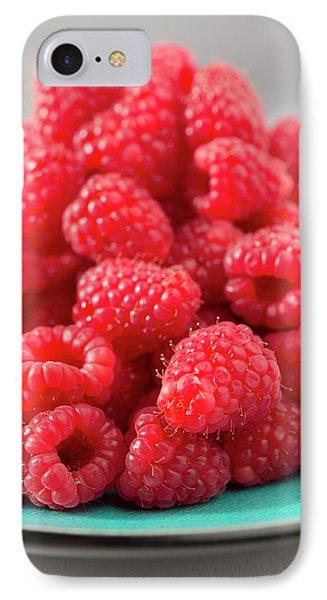 Fresh Raspberries IPhone Case by Aberration Films Ltd