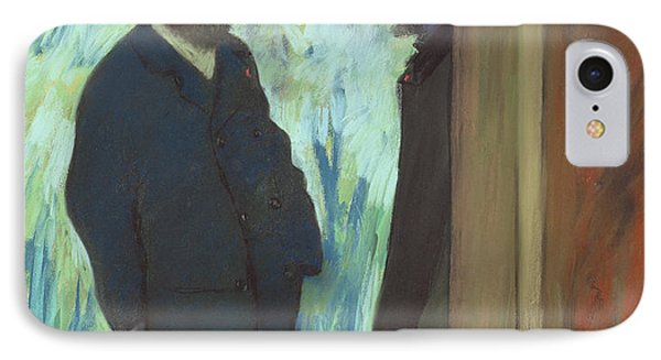 Friends At The Theater IPhone Case by Edgar Degas