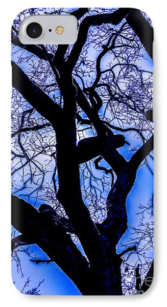 Frosty Blue Abstract Phone Case by Mitch Shindelbower
