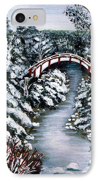 Frozen Brook - Winter - Bridge Phone Case by Barbara Griffin