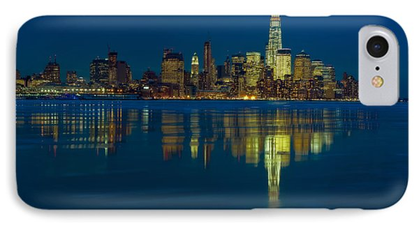 Frozen Lower Manhattan Nyc IPhone Case by Susan Candelario