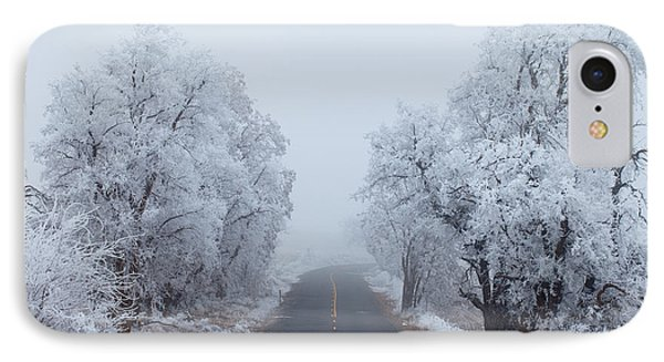 Frozen Trees IPhone Case by Darren  White