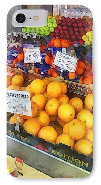 Fruit Stand Hoboken Nj Phone Case by Susan Savad