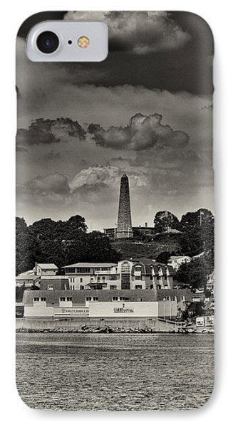 Ft Griswald Monument Black And White Phone Case by Joshua House