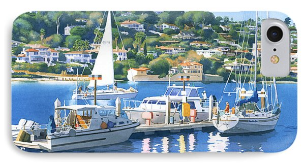 Fuel Dock Shelter Island San Diego IPhone Case by Mary Helmreich