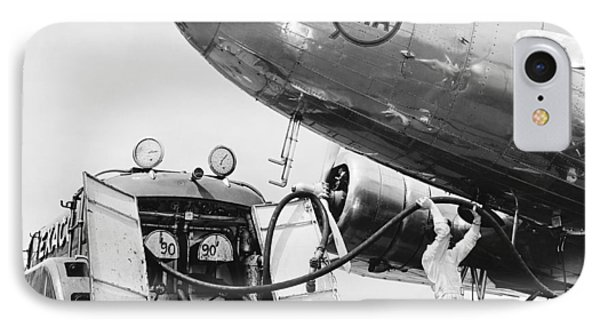 Fueling A Dc-3 Airliner IPhone Case by Underwood Archives