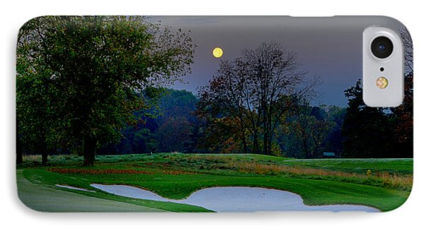 Full Moon At The Philadelphia Cricket Club IPhone Case by Bill Cannon