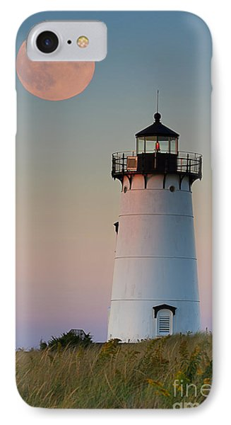 Full Moon Over Edgartown Lighthouse IPhone Case by Katherine Gendreau
