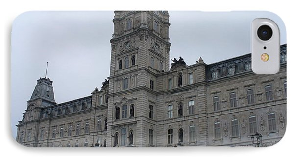 Full View Of Quebec's Parliament Building Phone Case by Lingfai Leung