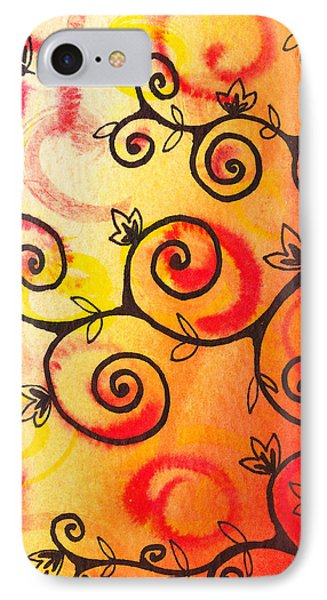 Fun Tree Of Life Impression I IPhone Case by Irina Sztukowski