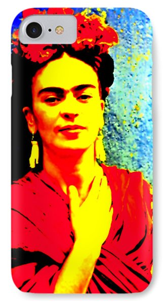 Funky Frida IIi IPhone Case by Michelle Dallocchio