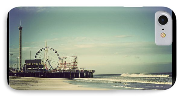 Funtown Pier Seaside Heights New Jersey Vintage IPhone Case by Terry DeLuco
