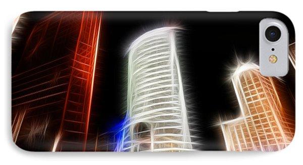 Futuristic Buildings In Berlin Potsdamer Platz Digital Art Phone Case by Matthias Hauser