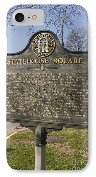 Ga-005-19 Statehouse Square Phone Case by Jason O Watson