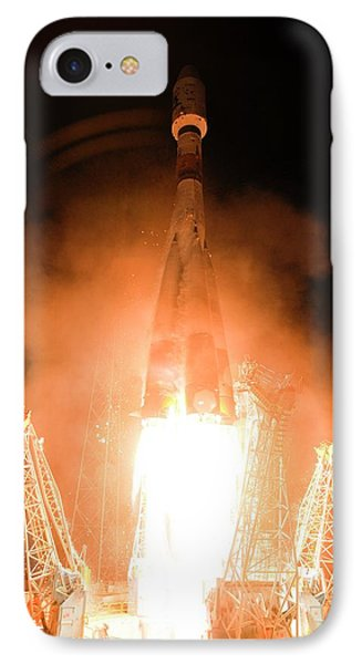 Gaia Space Probe Launch IPhone Case by S Corvaja/european Space Agency