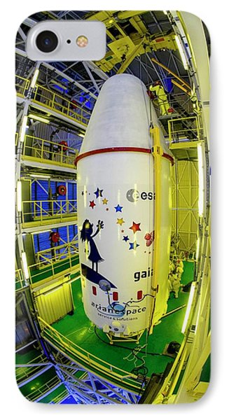 Gaia Space Probe Launcher IPhone Case by M Pedoussaut/european Space Agency