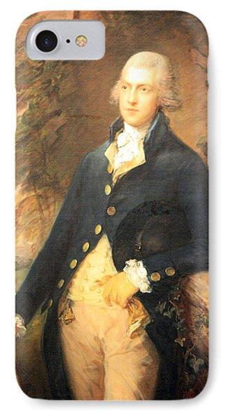 Gainsborough's Francis Bassat -- Lord De Dunstanville IPhone Case by Cora Wandel