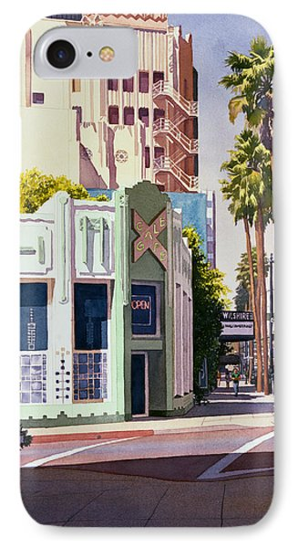 Gale Cafe On Wilshire Blvd Los Angeles IPhone Case by Mary Helmreich