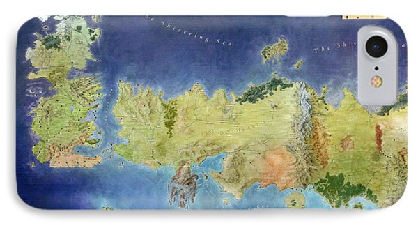 Game Of Thrones World Map IPhone Case by Gianfranco Weiss
