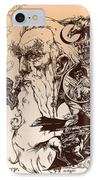 gandalf- Tolkien appreciation Phone Case by Derrick Higgins