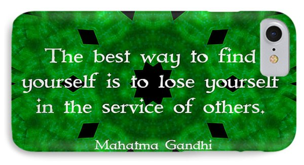 Gandhi Inspirational Quote About Self-help  IPhone Case by Quintus Wolf