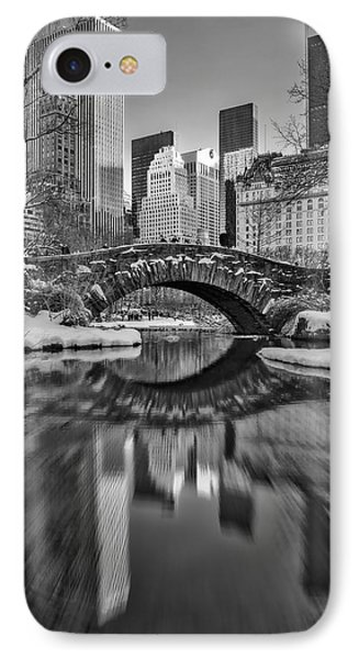 Gapstow Bridge Bw IPhone Case by Susan Candelario