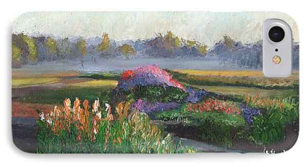 Garden At Sunrise Phone Case by William Killen