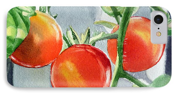 Garden Cherry Tomatoes  IPhone Case by Irina Sztukowski