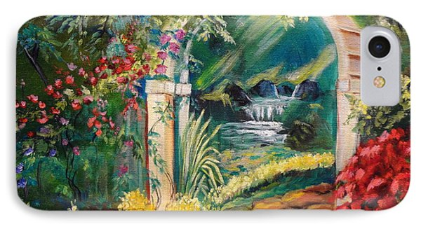 Garden Of Serenity Beyond Phone Case by Jenny Lee