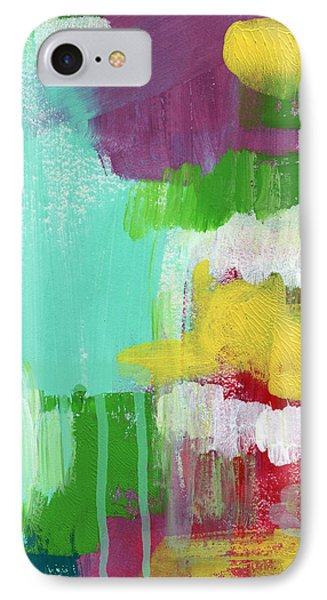 Garden Path- Abstract Expressionist Art IPhone Case by Linda Woods