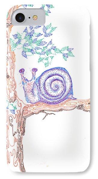 Garden Snail Phone Case by Regina Valluzzi