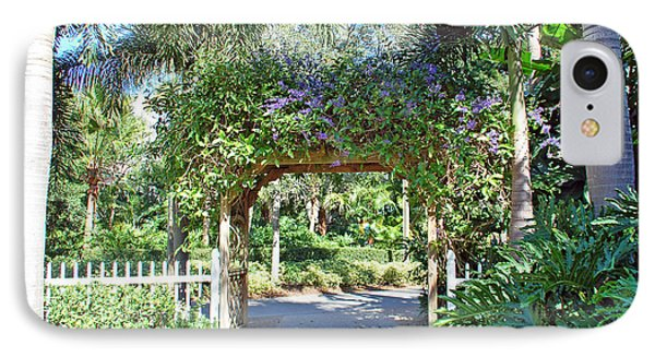 Garden Walkway Phone Case by Aimee L Maher Photography and Art Visit ALMGallerydotcom