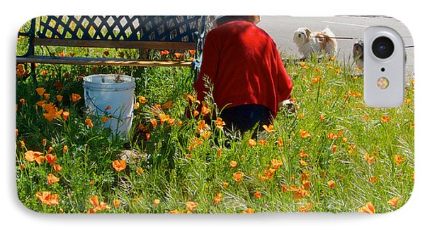 Gardening Distractions In Park Sierra-california IPhone Case by Ruth Hager