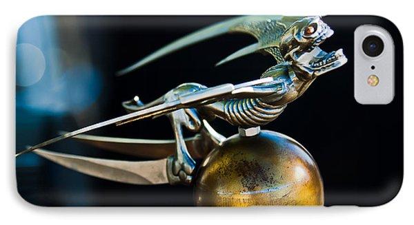 Gargoyle Hood Ornament IPhone Case by Jill Reger