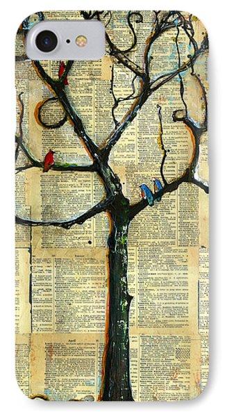 Gathering Place Winter Tree IPhone Case by Blenda Studio