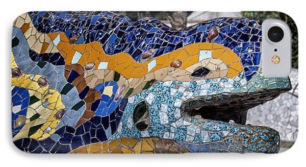 Gaudi Dragon IPhone 7 Case by Joan Carroll