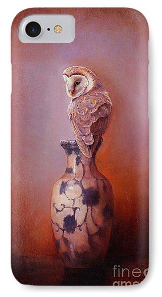 Gazing - Barn Owl IPhone Case by Lori  McNee